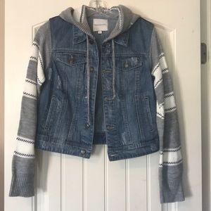 Thread & Supply Sweater Denim Jacket Size Medium